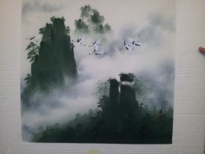 Chinese Painting on handmade paper.